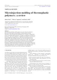 microinjection molding of thermoplastic polymers a review