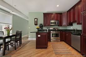 Color For Kitchen Walls Ideas Traditional Dark Wood Cherry Kitchen Cabinets 53 Kitchen Design