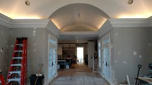 Crown Molding Vaulted Ceiling by Pro Install Led Lighting Behind Flying Crown Molding The Joy Of