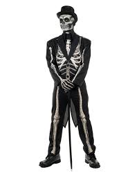 Skeleton Costumes For Halloween by Skeleton Suit Costume Tailcoat As Halloween Disguise Horror Shop Com