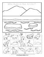 arctic animal preschool printables