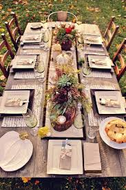 thanksgiving table decorations modern 23 chic outdoor thanksgiving table setting ideas shelterness
