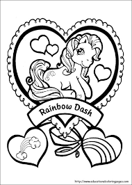 rainbow dash pony coloring pictures pony