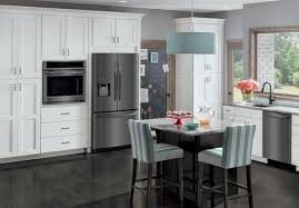 gray kitchen cabinets with black stainless steel appliances choosing between slate black stainless steel black slate