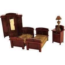 Edwardian Bedroom Furniture by Edwardian Four Piece Doll House Bedroom Suite 2 Beds Wardrobe
