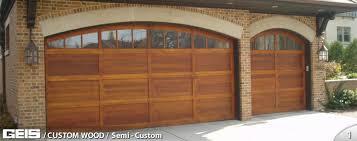 Wood Overhead Doors Semi Custom Custom Wood Geis Garage Doors Milwaukee
