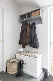 hall way ideas entry beach style with wellies coat rack storage bench