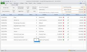Credit Debit Balance Sheet Excel by Amazon Com Georges Excel Checkbook Register V3 Checkbook