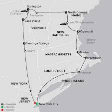 New England Map by New England Tour Cosmo Affordable Tours