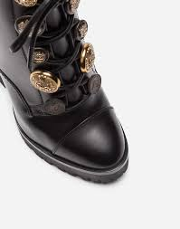motorcycle half boots women u0027s boots and booties dolce u0026gabbana leather ankle boots