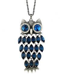 owl jewelry necklace images Neoglory birthstone blue crystal made with swarovski jpg