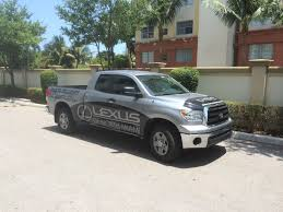 lexus truck pictures intack signs and wraps lexus of north miami parts truck