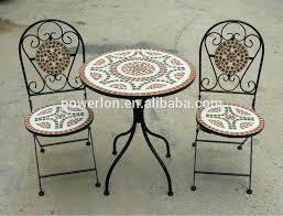 Patio Tile Table Incredible Tile Bistro Table Set Mosaic Tile Table Top Patio
