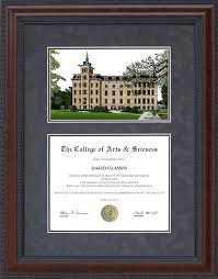 of illinois diploma frame diploma frame with central college ncc cus lithograph