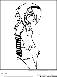 sweet emo coloring pages for girls printable free coloring book