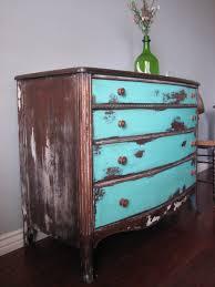 Metal Bedroom Dresser Brown Distressed Wooden Dresser Turquoise Drawers