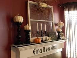 Home Decorations For Halloween by Fancy Halloween Mantel Decorating Ideas 39 With Additional Home