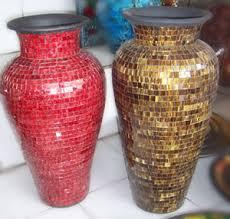 Mosiac Vase Mosaic Pottery Vase In Bali Indonesia Mosaic Ceramic Vase In
