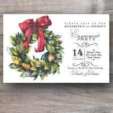 christmas invitations magnolia wreath christmas party invitations celebration bliss