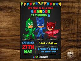 pj masks invitations pj masks birthday party invitation