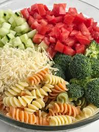 ranch pasta salad together as family