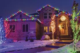 outside christmas lighting ideas multicolored christmas roof
