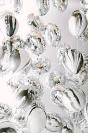 fill up the dance floor with silver balloons for a perfect new