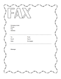 microsoft fax cover letter template word