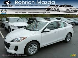 mazda 4 door cars 2013 mazda mazda3 i touring 4 door in crystal white pearl mica