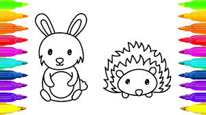 coloring pages for kids drawing animals how to draw rabbit and
