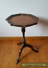 leather top side table vintage leather top plant stand side end table for sale in united states