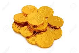 hanukkah chocolate coins image of hanukkah with gold chocolate coins