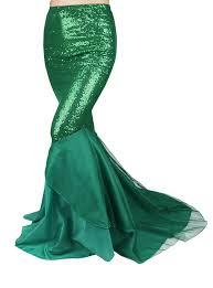 lange rok mermaid zeemeermin lange rok groen sequin kopen feestinjebeest nl