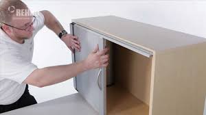 sliding cabinet doors diy installing a single horizontal tambour door with spiral track youtube