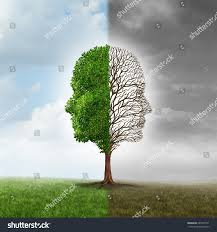 human emotion mood disorder tree shaped stock illustration