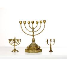 menorah candle holder a large menorah candle holder a small chanukah menorah and