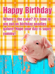 let u0027s pig out happy birthday card birthday u0026 greeting cards by