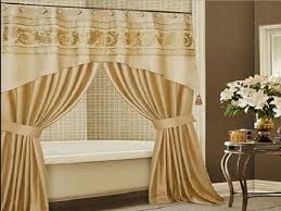 Brown And Gold Shower Curtains Gold Shower Curtain With Valances And Traditional Table For Elegan