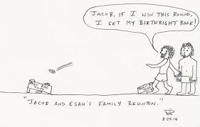 bible cartoons jacob and esau u0027s family reunion humoroutcasts