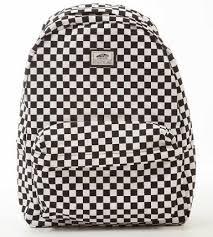 Jual Vans White buy vans skool ii backpack black white check in cheap price