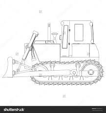 outline bulldozer stock vector 443302717 shutterstock