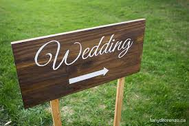 diy wedding signs diy painted wedding direction signs wedding wednesday at