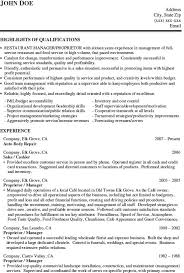 Resume Outline Pdf Ideas Collection Restaurant Manager Resume Samples Pdf With Format