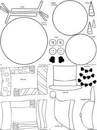 free snowman drawing coloring activity