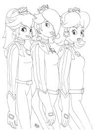 rosalina peach and daisy coloring pages coloring home