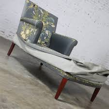 Vintage Chaise Lounge Sold U2013 Vintage 1940 U0027s Double Armed Chaise Lounge Newly Upholstered