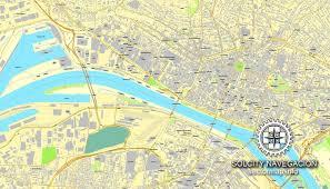 map of rouen rouen printable vector city plan map editable