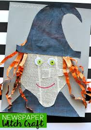 Fun Halloween Crafts - creative newspaper witch craft fun halloween crafts newspaper
