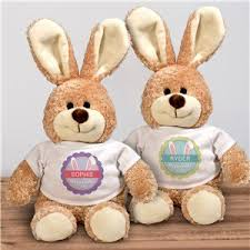 stuffed bunnies for easter personalized easter bunnies stuffed bunnies giftsforyounow