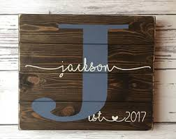wedding gift name sign established sign etsy